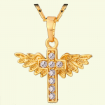 Angel Winged Diamond Cross