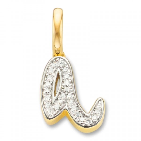 Diamond Alphabet Pendant A