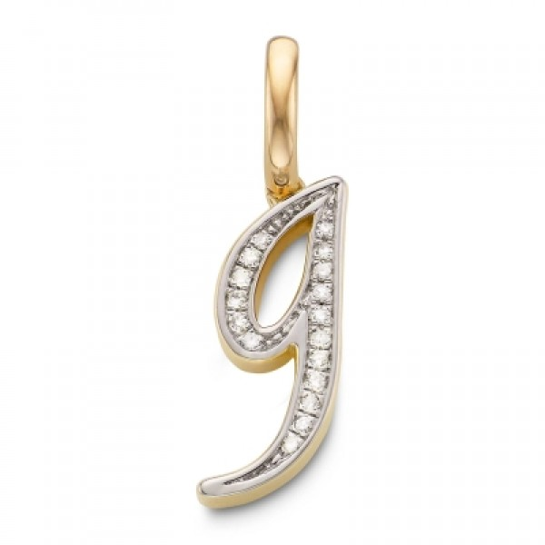 Diamond Alphabet Pendant G