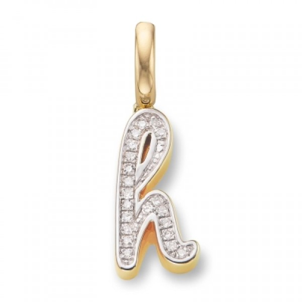 Diamond Alphabet Pendant H