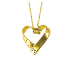 Measuring Tape Heart Pendant
