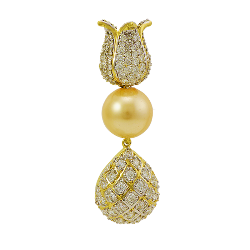 gold t earrings diamond at net chic jhumka white womens jewellery hansini buy