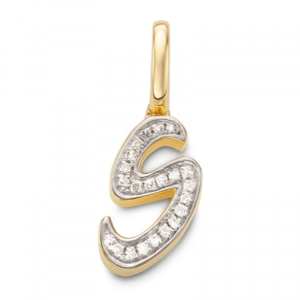 Diamond Alphabet Pendant S