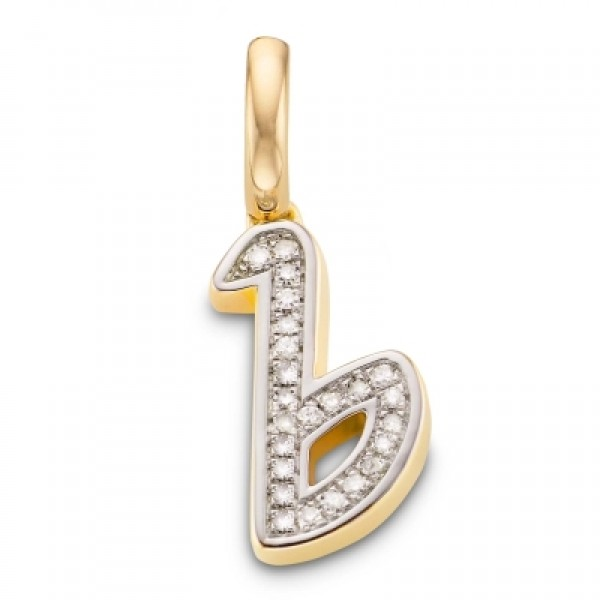 Diamond Alphabet Pendant B