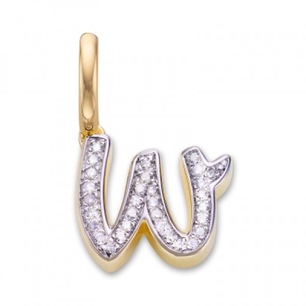 Diamond Alphabet Pendant W