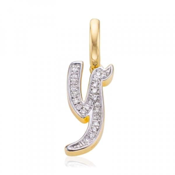 Diamond Alphabet Pendant Y