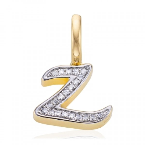 Diamond Alphabet Pendant Z