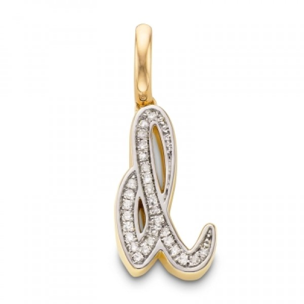 Diamond Alphabet Pendant D