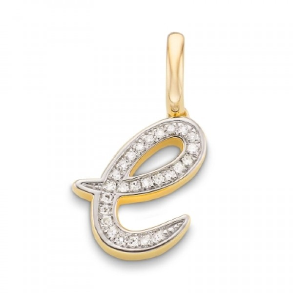 Diamond Alphabet Pendant E