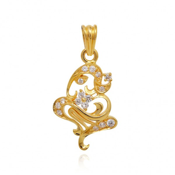 Ganesh Diamond Pendant
