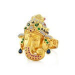 Ganesha Diamond Ring