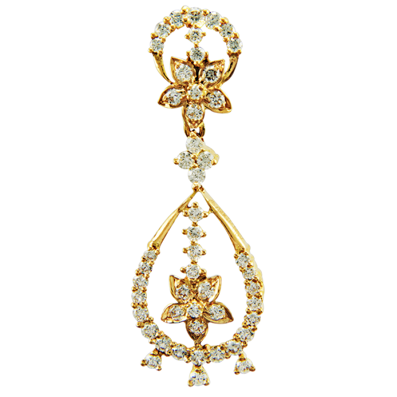Royal Traditional Diamond Earrings
