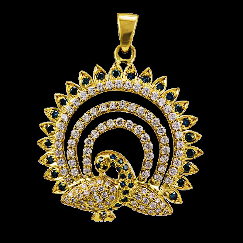 Mayura diamond pendant diamond peacock pendants designs with mayura diamond pendant aloadofball Choice Image